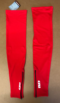 Red Moozes Lycra Thermal Fleece Lined Leg Warmers With Grippers