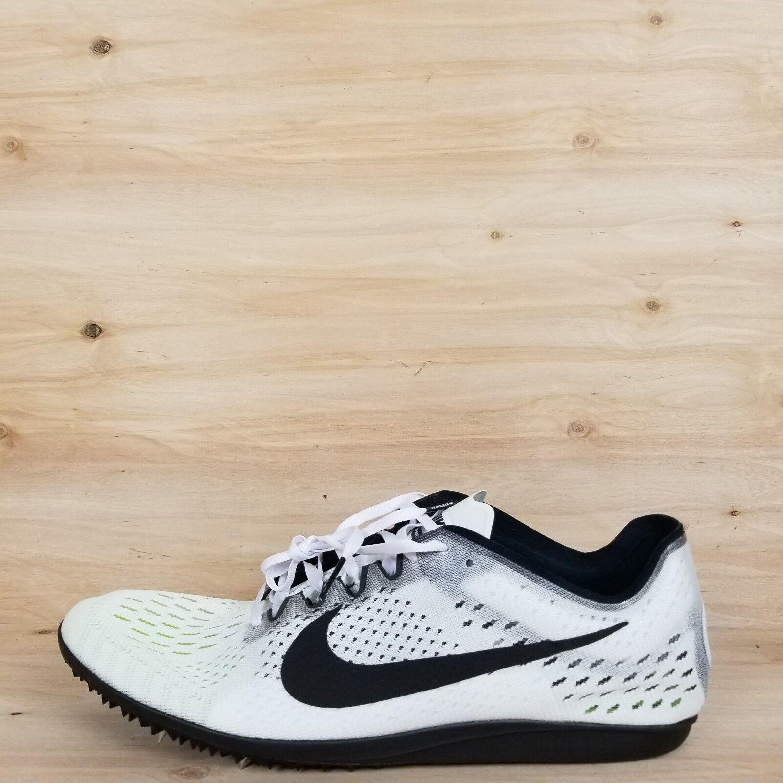 Nike shox nz taglia 12 di pelle nera, poi bianco logo Uomo