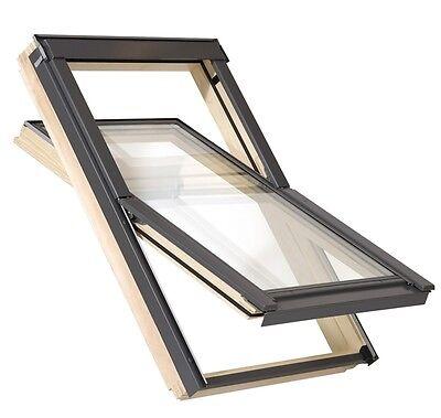 Holzdachfenster Fenster fürs Dach Holz + Eindeckrahmen (VKR Velux Konzern) TOP-Q