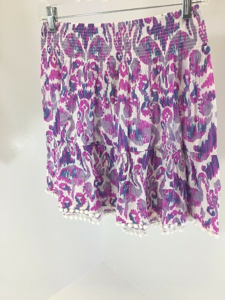 LILLY PULITZER WOMEN'S EVELYN SKIRT BEACH BATHERS MULTICOLOR SMALL NWT