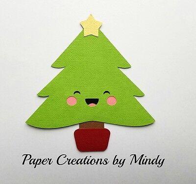 Kawaii Christmas.Craftecafe Mindy Kawaii Christmas Tree Xmas Premade Paper Piecing Scrapbook Page Ebay
