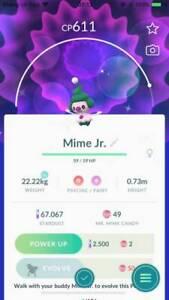 Shiny Mime Jr Pokemon Go Trade 1 Mil Stardust Ebay
