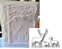 Deer Trio Border Metal Die Memory Box Cutting Dies 98166 Buck Doe Fawn Nature