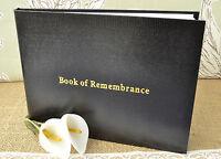 Black Book of Remembrance. Condolence Book. Funeral Guest Book. Memorial Book