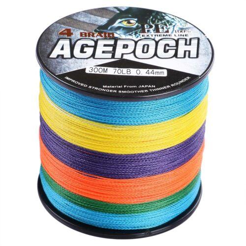 Agepoch 100M-2000M Multicolore 10LB-300LB pe Dyneema Linea di pesca intrecciata