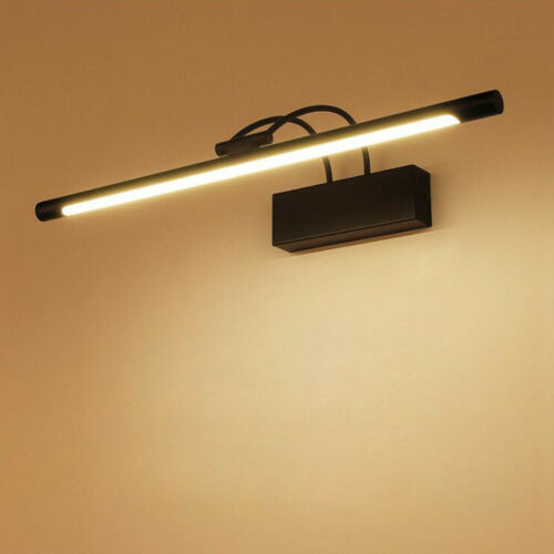 LED Wall Sconce Fixture Mirror Front Makeup Picture Light Washroom Lamp Black