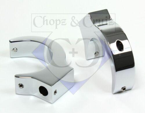 2 pièces-aluminium chromé 43 mm Clignotants réservé pour la fourchette traverses