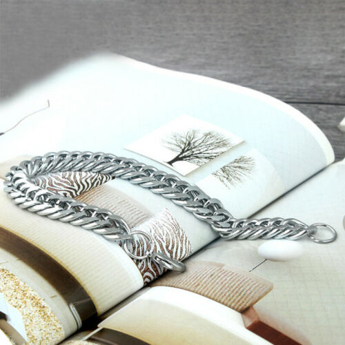 Silber Herren Punk Kette Armband Armband Armreif Schmuck 21.5cm Edelstahl