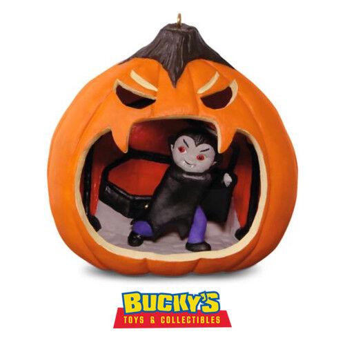 Happy Halloween 2016 Hallmark Ornament #4  Jack O/' Lantern  Dracula  Bat Vampire