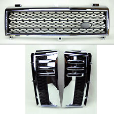 Range Rover 03-05 Mesh Chrome Blk Front Bumper Hood Grill Inc Side Fender Vents