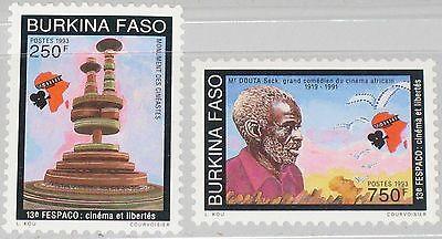 Burkina Faso 1993 1282-83 957-58 African Film Movie Festival Fespaco Actor Mnh Briefmarken