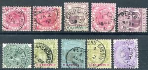 MAURITIUS-19272-VERDUN-etc-postmarks-QV-cancels