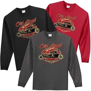 17ea317e934 Rat Rod Old School Hot Rodder Mens Long Sleeve T Shirt Small to 4XL ...