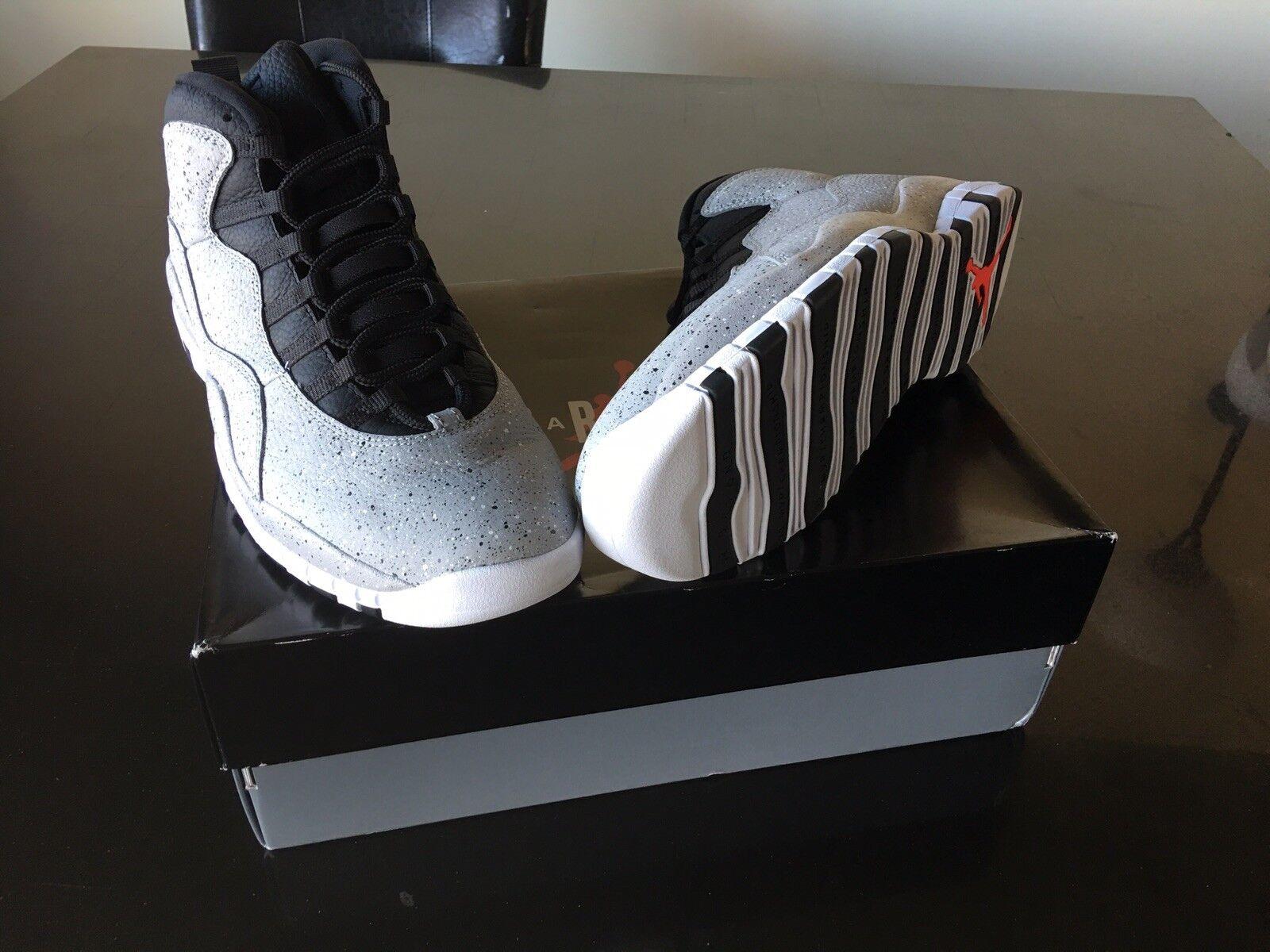 "Air Jordan Retro 10 ""Cement"" Sz 12.5"