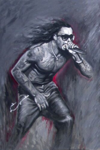 Lil Wayne art Painting Signed Stretched Canvas Rap Giclee Print