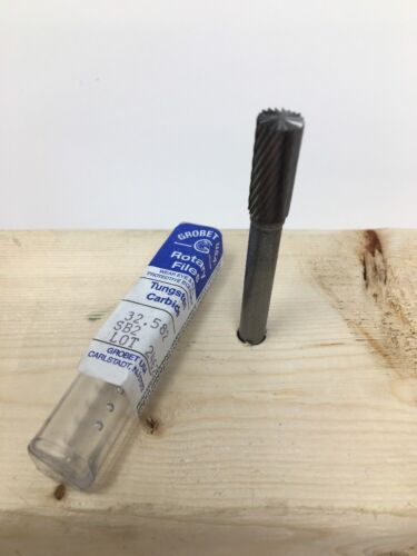 "Single Grobet USA Carbide Burr Bur Bit 1//4 Shank 5//16/"" SB-2 End Cut Cylinder"