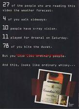 Canadian Club Whiskey 1995 Magazine Advert #886
