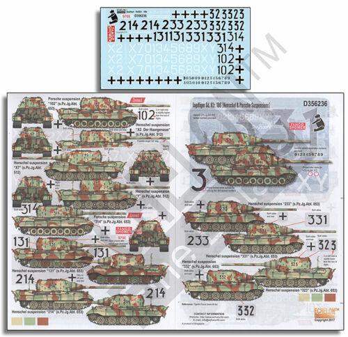 Echelon Fine Details 1//35 Jagdtiger SdKfz.186 Decals