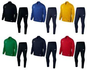 Nike-Ragazzi-Tuta-Bambini-Zip-Completa-Junior-Bottoms-SPORTS-FOOTBALL-Pantaloni-Tops