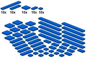 Lego-Bricksy-039-s-Bascis-Blue-G02-Glatte-Teile-Blau