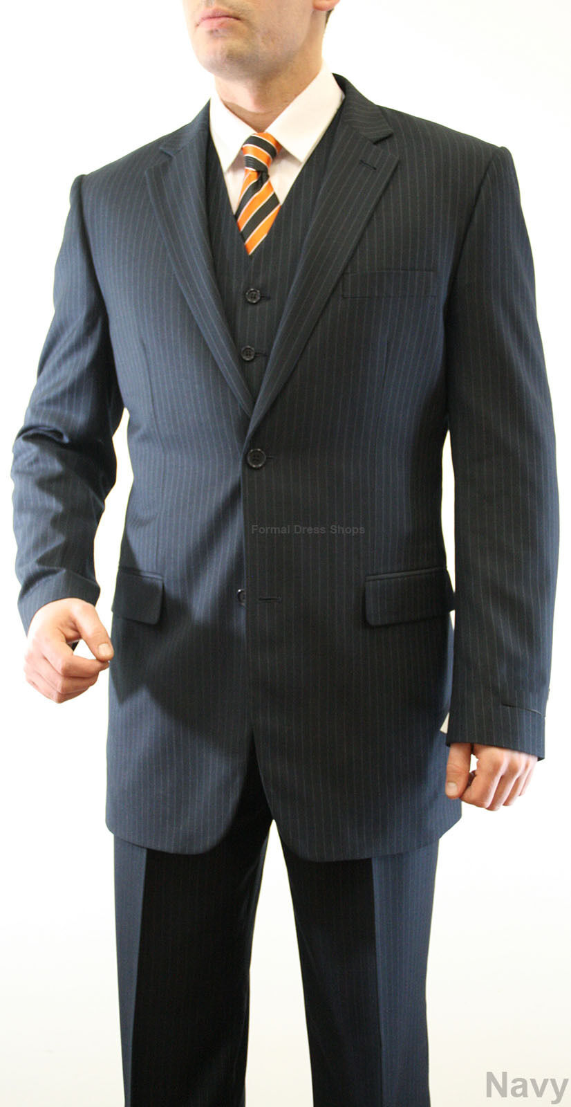 Groomsmen S Pinstripe Suit Jacket Vest Pants Father Of The