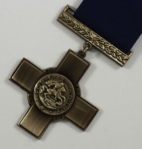 Full-Size-Replica-WW2-George-Cross-Highest-Award-for-Gallantry-Medal-with-Ribbon