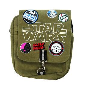 Star Wars Patches Cross Body Canvas Messenger Courier Bag Green Khaki