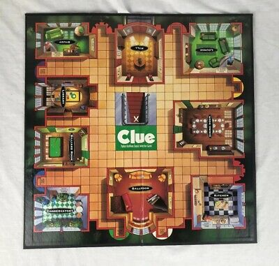 1996 Clue Classic Detective Board Game Replacement Gameboard Long | eBay