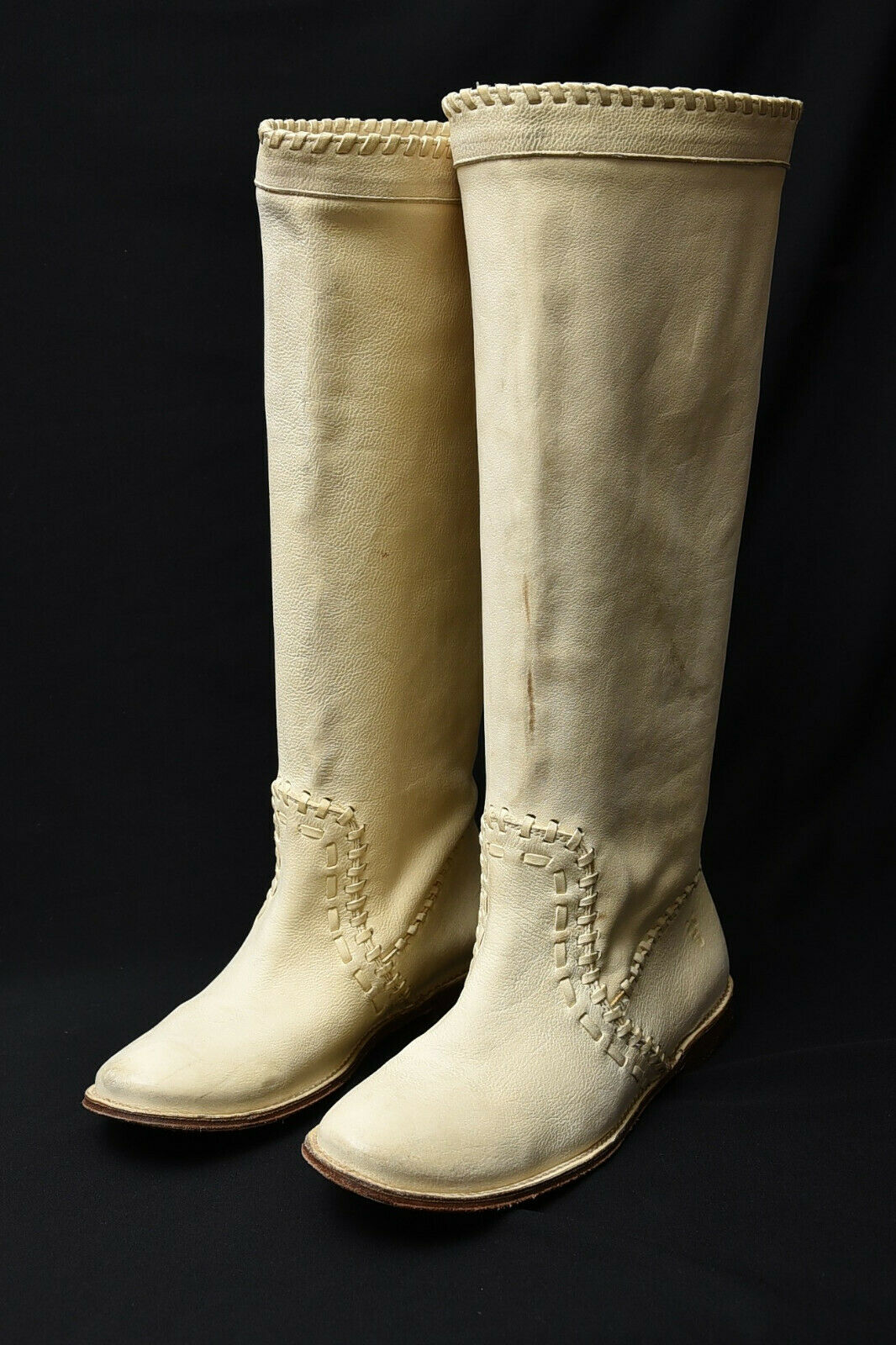 Frye donna Leather Tall Flat Western Slouch Riding Knee Length stivali Sz 6