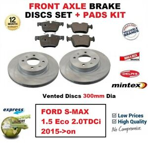 MINTEX FRONT REAR DISCS AND PADS FOR FORD S-MAX 2.0 2006