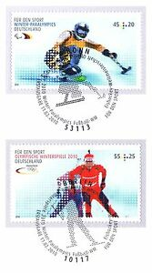 Rfa 2010: Ski Alpin Et Majówki Nº 2781+2782! Tampon De Bonn + Berlin! 1a! 155-afficher Le Titre D'origine
