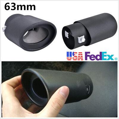 Black Titanium 63mm*145mm Universal Car SUV Exhaust Pipes Tip Tail Muffler Cover