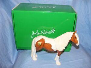 John-Beswick-Vanner-Pony-Gypsy-Horse-Skewbald-JBH50-New-Boxed-Present-Gift