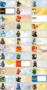 36 Lego Ninjago Personalised Name Label Sticker 3x13cm Vinyl