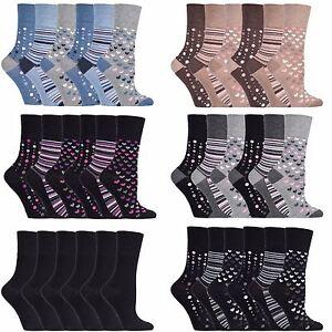 Gentle-Grip-6-Pack-Womens-Patterned-Loose-Top-Non-Elastic-Binding-Bamboo-Socks