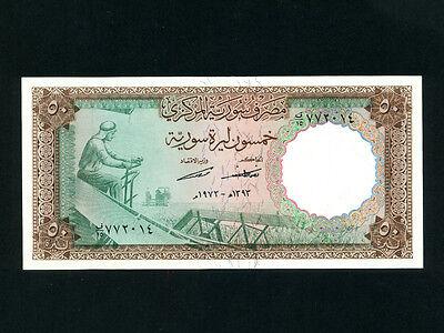 UNC * Syria:P-94d,5 Pounds 1973 Worker