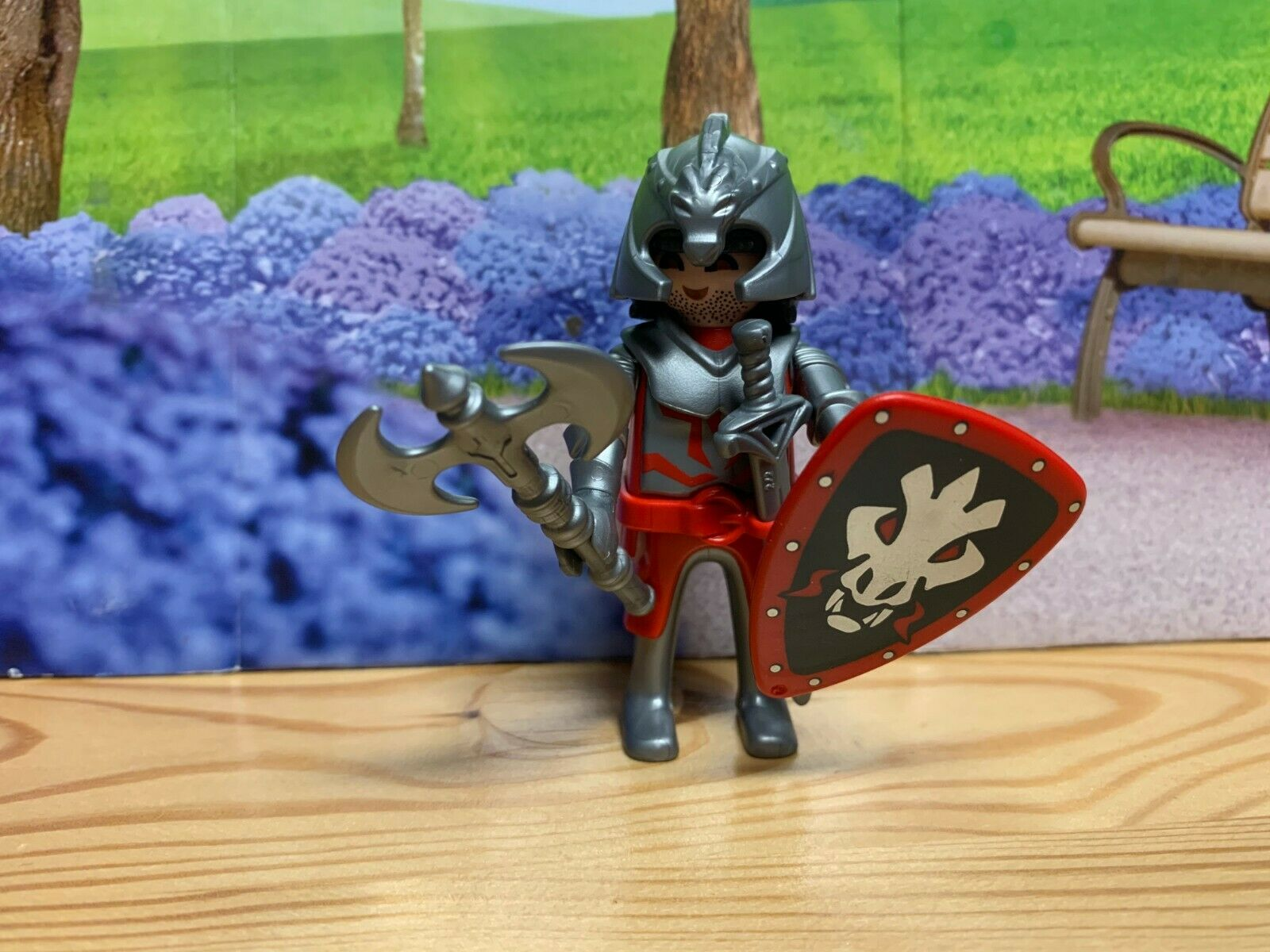 3x Playmobil Knights Swords Anthracite Unusual Variant