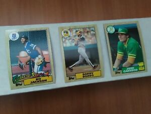 Details About 1987 Topps Baseball Cards Complete Your Sets U Pick S 201 400 Nm Mint