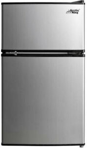 Stainless-Steel-Refrigerator-Small-Freezer-Cooler-Fridge-Compact-3-2-cu-ft-Unit