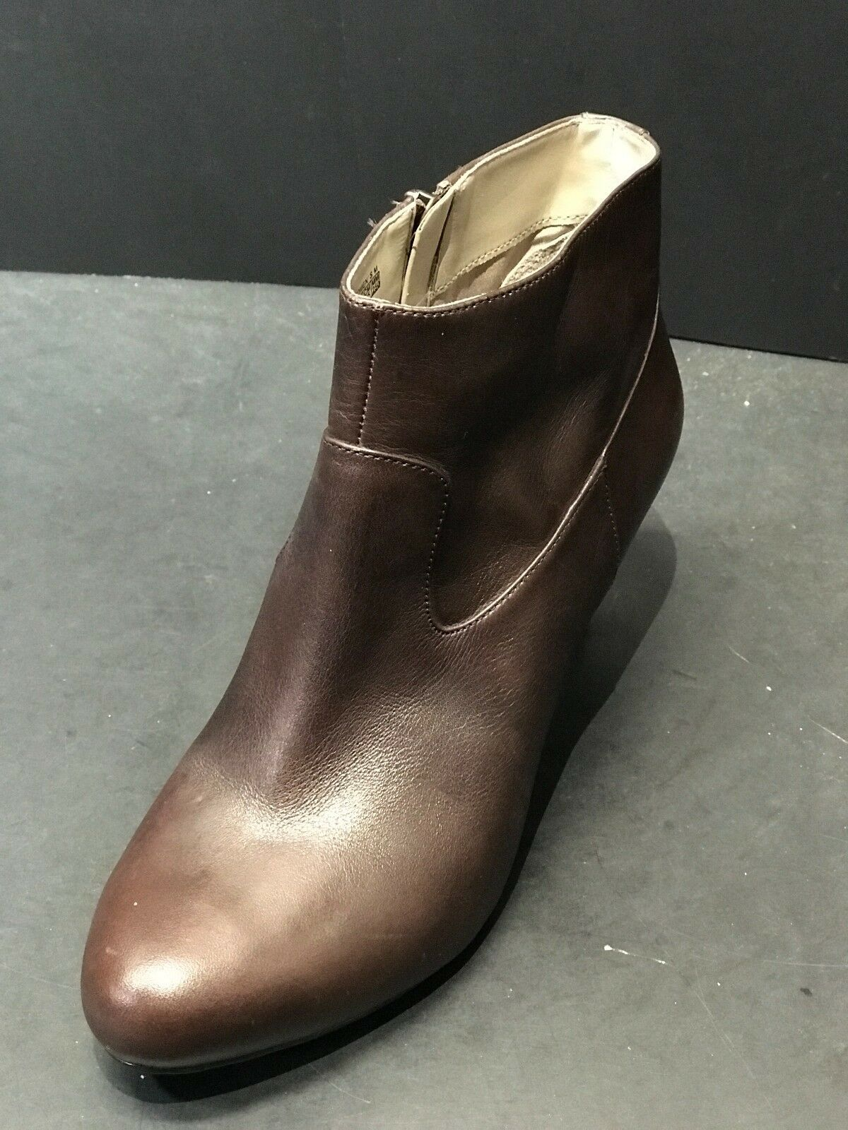 ROCKPORT Women's Side Zip Brown Brown Brown Leather Stiletto Ankle Booties Size US 8 M New f1d7be