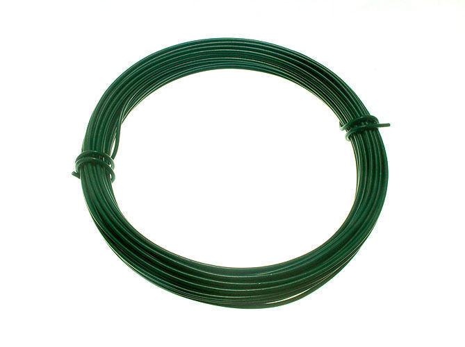 Nuevo Plastificado verde Valla de Jardín Bobina 2mm X 1.4mm X 15 Metros (6 Rolls