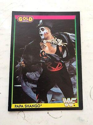1992 WWF Clásico Trading Card Gold Series-Kamala #94 Hasbro WWE Wrestling