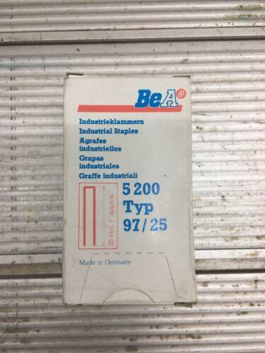 BeA Industrieklammern Typ 97/25 5200 Stück Klammern