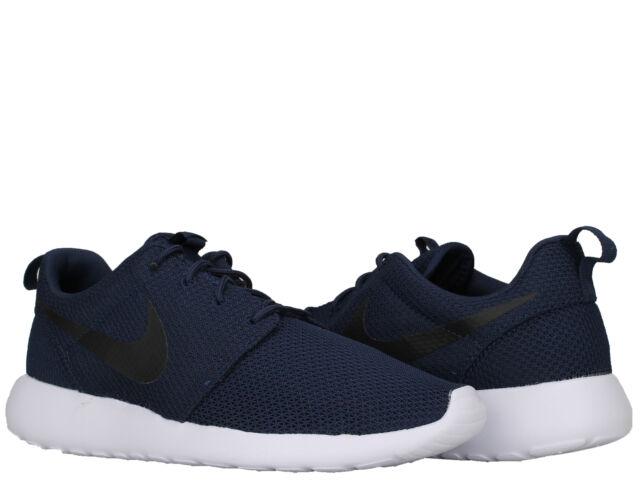 94bc96f954e6c Nike Roshe One Sz 9.5 Midnight Navy Black White 511881 405 for sale ...