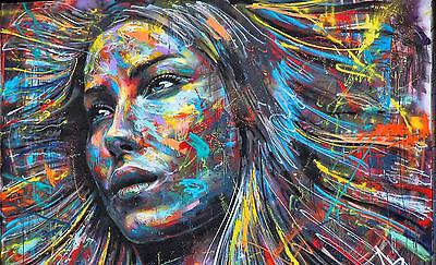 ART PRINT POSTER PHOTO GRAFFITI MURAL STREET ART GOTHIC GIRL NOFL0221