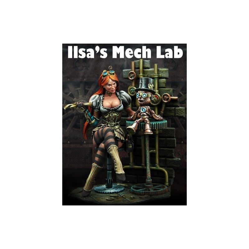 Scale 75 Ilsa's Mech Lab Steampunk 75mm Resin UNPAINTED Kit
