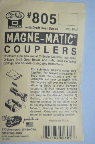 Matic couplers kadaee o scale # 805 railroad Magne