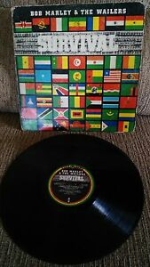 BOB-MARLEY-amp-THE-WAILERS-SURVIVAL-LP-12-034-VINYL-G-G-SPANISH-FIRST-PRESS-1979