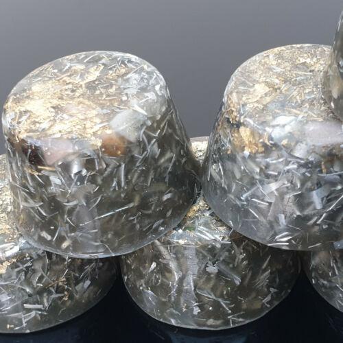 5 Orgonite 23k Gold Towerbuster 5G Orgone Orgones Iron Oxide Shungite Orgonites