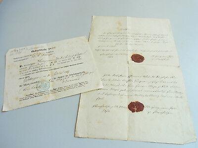 Militär-ausmusterung 1867 & Taufschein 1874 // Th. Fr. Wilhelm Heinzmann (*1845)